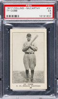 Baseball Cards:Singles (Pre-1930), 1917 E135 Collins McCarthy Ty Cobb #30 PSA EX 5 - The Highest PSA Graded Example! ...