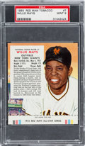 Baseball Cards:Singles (1950-1959), 1955 Red Man Willie Mays #7 PSA MINT 9 - Pop Two, None Higher! ...