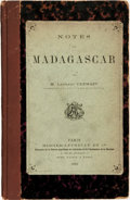 Books:Travels & Voyages, M. Laurent Cremazy. Notes sur Madagascar. Paris: Berger-Levrault, 1883....