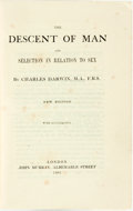 Books:Natural History Books & Prints, Charles Darwin. The Descent of Man and Selection in Relation to Sex. London: John Murray, 1901....