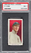Baseball Cards:Singles (Pre-1930), 1909 E95 Philadelphia Caramel Ty Cobb PSA NM 7 - None Higher....