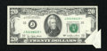 Error Notes:Attached Tabs, Fr. 2072-J* $20 1977 Federal Reserve Star Note. About Uncirculated.. ...