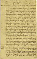 """Autographs:Military Figures, Lord Stirling Manuscript Document Signed """"Stirling,"""" 1.5 pages, 7.75"""" x 12"""", front and verso. Perth Amboy, New Jersey, J..."""