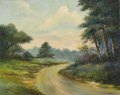 Fine Art - Painting, American:Other , ADAMS. Country Landscape, 1973. Oil on canvas. 16 x 20in..Signed and dated lower left. ...