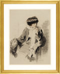 Illustration:Magazine, RAYMOND CROSBY (American 1876-1945). Original Illustration.Woman In A Hat, c.1910. Charcoal and pastel on paper . 23 x...