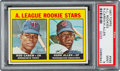 Baseball Cards:Singles (1960-1969), 1967 Topps A. L. Rookies - Rod Carew #569 PSA Mint 9. ...
