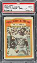 "Baseball Cards:Singles (1970-Now), 1972 Topps Test ""Cloth Stickers"" Roberto Clemente PSA Mint 9. ..."