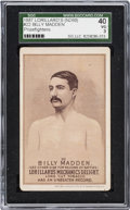 """Boxing Cards:General, 1887 N269 Lorillard's """"Prizefighters"""" Billy Madden #22 SGC 40 VG 3. ..."""