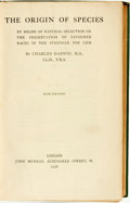 Books:Natural History Books & Prints, Charles Darwin. The Origin of Species. London: John Murray, 1906....
