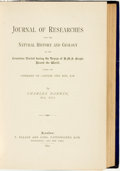 Books:Natural History Books & Prints, Charles Darwin. Journal of Researches into the Natural History and Geology of the Countries Visited during the Voyage of...