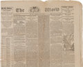 Military & Patriotic:Indian Wars, Custer Newspapers: Six Different Papers from Early July, 1876 with Reports on the Little Big Horn Massacre....