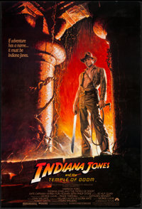 "Indiana Jones and the Temple of Doom (Paramount, 1984). One Sheet (27"" X 41""). Adventure"