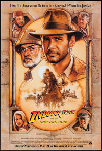 """Indiana Jones and the Last Crusade (Paramount, 1989). One Sheet (27"""" X 41"""") Advance. Action"""