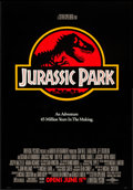 "Movie Posters:Science Fiction, Jurassic Park (Universal, 1993). One Sheet (26.75"" X 39.75"") SSAdvance. Science Fiction.. ..."