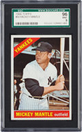Baseball Cards:Singles (1960-1969), 1966 Topps Mickey Mantle #50 SGC 96 Mint 9 - Pop Two, NoneHigher....