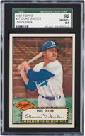 Baseball Cards:Singles (1950-1959), 1952 Topps Duke Snider, Black Back #37 SGC 92 NM/MT+ 8.5....