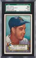 Baseball Cards:Singles (1950-1959), 1952 Topps Hoyt Wilhelm #392 SGC 92 NM/MT+ 8.5 - The Finest SGCExample! ...