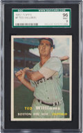 Baseball Cards:Singles (1950-1959), 1957 Topps Ted Williams #1 SGC 96 Mint 9 - None Higher....