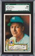 Baseball Cards:Singles (1950-1959), 1952 Topps Ed Lopat, Red Back #57 SGC 88 NM/MT 8....