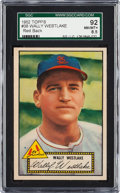 Baseball Cards:Singles (1950-1959), 1952 Topps Wally Westlake #38 SGC 92 NM/MT+ 8.5 - None Higher....