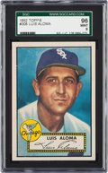 Baseball Cards:Singles (1950-1959), 1952 Topps Luis Aloma #308 SGC 96 Mint 9 - Pop One, The Finest SGCExample!...