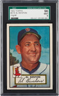 Baseball Cards:Singles (1950-1959), 1952 Topps Al Benton #374 SGC 96 Mint 9 - Pop One, Finest SGC Example! ...