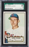 Baseball Cards:Singles (1950-1959), 1952 Topps George Zuverink #199 SGC 96 Mint 9 - Pop One, The FinestSGC Example!...