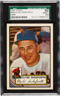 Baseball Cards:Singles (1950-1959), 1952 Topps Clyde Sukeforth #364 SGC 92 NM/MT+ 8.5 - The Finest SGC Example! ...