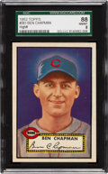 Baseball Cards:Singles (1950-1959), 1952 Topps Ben Chapman #391 SGC 88 NM/MT 8 - Pop One With None Higher! ...