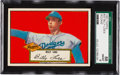 Baseball Cards:Singles (1950-1959), 1952 Topps Billy Loes, Red Back #20 SGC 88 NM/MT 8....