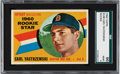Baseball Cards:Singles (1960-1969), 1960 Topps Carl Yastrzemski #148 SGC 96 Mint 9 - None Higher! ...