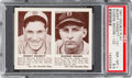Baseball Cards:Singles (1940-1949), 1941 R330 Double Play Hassett/Moore #121/122 PSA NM-MT 8.5. ...