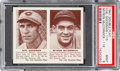 Baseball Cards:Singles (1940-1949), 1941 R330 Double Play Goodman/McCormick #115/116 PSA Mint 9 - Pop One, None Higher! ...