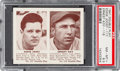 Baseball Cards:Singles (1940-1949), 1941 R330 Double Play Joost/Koy #117/118 PSA NM-MT 8.5 - Pop Two, None Higher. ...