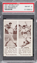 Baseball Cards:Singles (1940-1949), 1941 R330 Double Play Ted Williams/Cronin #81/82 PSA NM-MT 8. ...