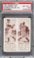 Baseball Cards:Singles (1940-1949), 1941 R330 Double Play Gordon/Keller #83/84 PSA NM-MT 8.5. ...