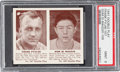 Baseball Cards:Singles (1940-1949), 1941 R330 Double Play Pytlak/D. DiMaggio #107/108 PSA Mint 9 - PopOne, None Higher. ...