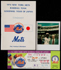 Baseball Collectibles:Others, 1974 New York Mets Tour of Japan Collection....