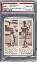 Baseball Cards:Singles (1940-1949), 1941 R330 Double Play Ott/Whitehead #89/90 PSA NM-MT 8....
