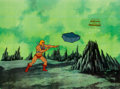 Animation Art:Production Cel, He-Man and the Masters of the Universe Production Cel andAnimation Drawing Group of 3 (Filmation, 1984).. ... (Total: 4Items)