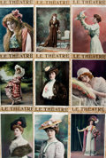Books:Prints & Leaves, [Illustrated Periodicals, Theatre]. Group of Forty-Six Covers andLeaves from Le Théatre and Theatre M...
