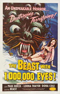 """The Beast with 1,000,000 Eyes! (American Releasing Corp., 1955). One Sheet (26.5"""" X 41"""")"""