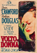 "Movie Posters:Drama, A Woman's Face (MGM, Late 1940s). First Post-War Italian Foglio(28"" X 39.5"") .. ..."