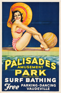"Palisades Amusement Park (Berkshire Printing, 1937). Advertising Poster (30.5"" X 46"")"