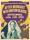 "Movie Posters:Mystery, After Midnight with Boston Blackie (Columbia, 1943). SilkscreenPoster (30"" X 40""). Mystery.. ..."
