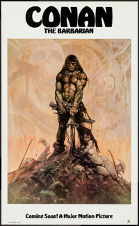 """Conan the Barbarian (Universal, 1980). Poster (22"""" X 36"""") Advance. Action"""