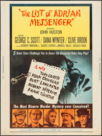 "The List of Adrian Messenger (Universal, 1963). Poster (30"" X 40""). Mystery"