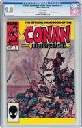 Modern Age (1980-Present):Miscellaneous, The Official Handbook of the Conan Universe #1 Jan 86 edition (Marvel, 1986) CGC NM/MT 9.8 White pages....