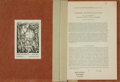 Books:Natural History Books & Prints, S. Zuckerman. Taxonomy and Human Evolution [and:] Adolph H. Schultz. The Physical Distinctions of Man....