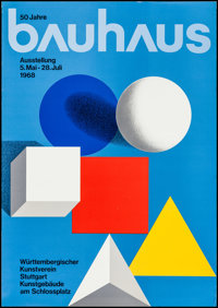 """50 Years of Bauhaus Exhibition Poster (1968). German A2 (16.5"""" X 23.25""""). Miscellaneous"""